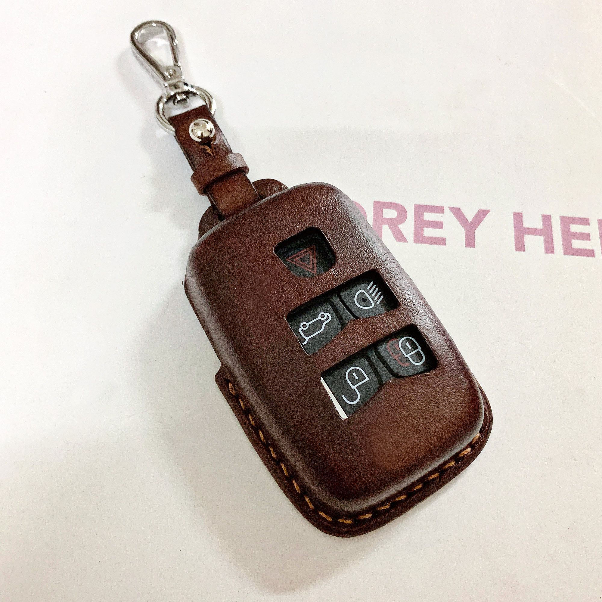 Range Rover Key Fob Cover Car Key Case Handmade Brown Leather Car Key Sleeve Car Key Case Range Rover Evoque Range Rover Spo Key Case Range Rover Car Keys