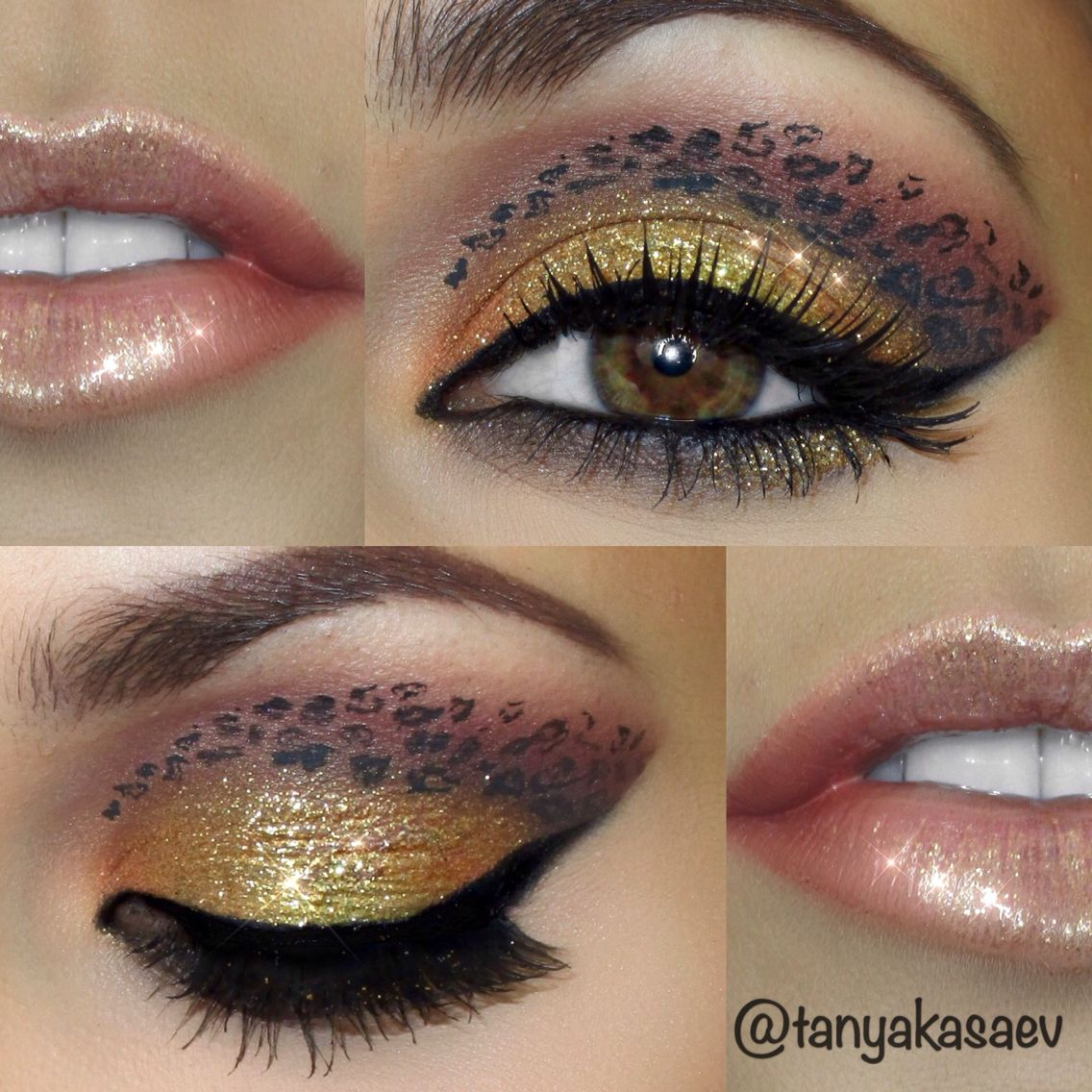 Cheetah Print Eye Art Makeup Look Fun Gorgeous Glitter Stunning
