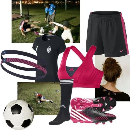 54ad91e0573 Ready for practice   women  outfit  soccer  football  training  pink ...