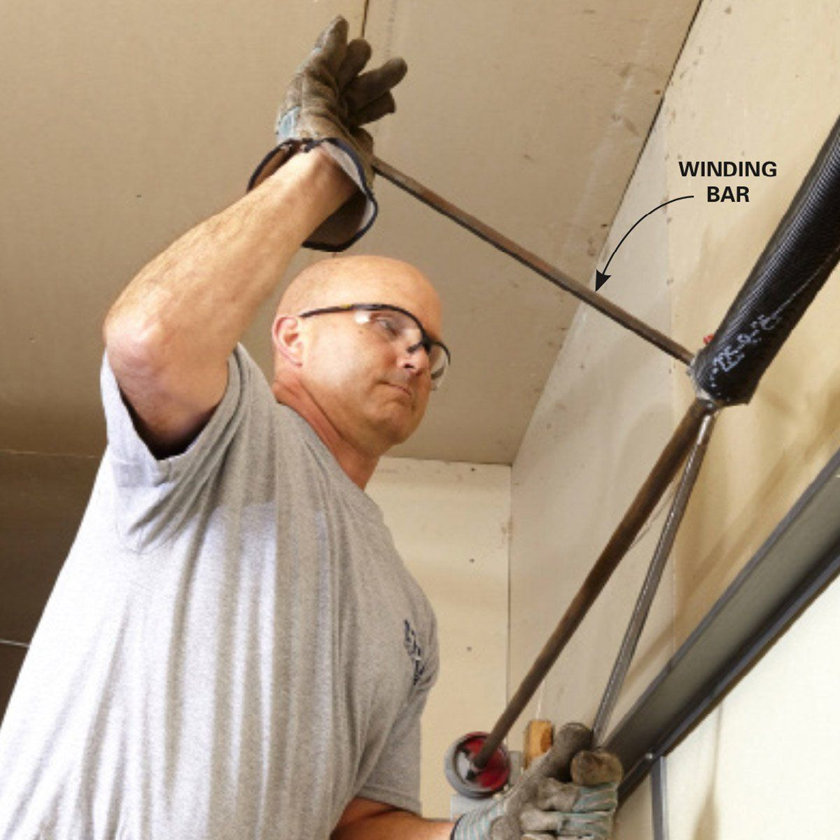 How To Repair Garage Door Springs And Cables Garage Door Springs Overhead Garage Door Garage Doors