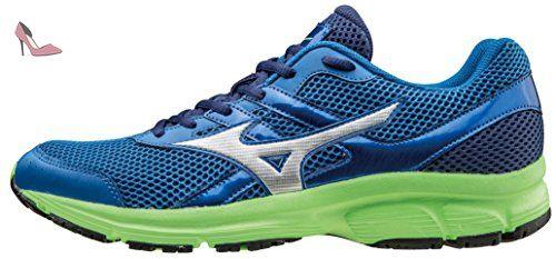 Mizuno Chaussure Running Sneaker Homme Spark, skydiver/silver/greengecko, 41 - Chaussures mizuno (*Partner-Link)