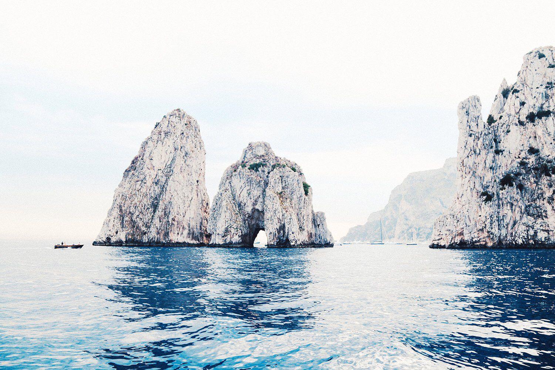 CAPRI LANDSCAPE Faraglioni Capri Photography Beach Art ...  |Capri Beach Scenes