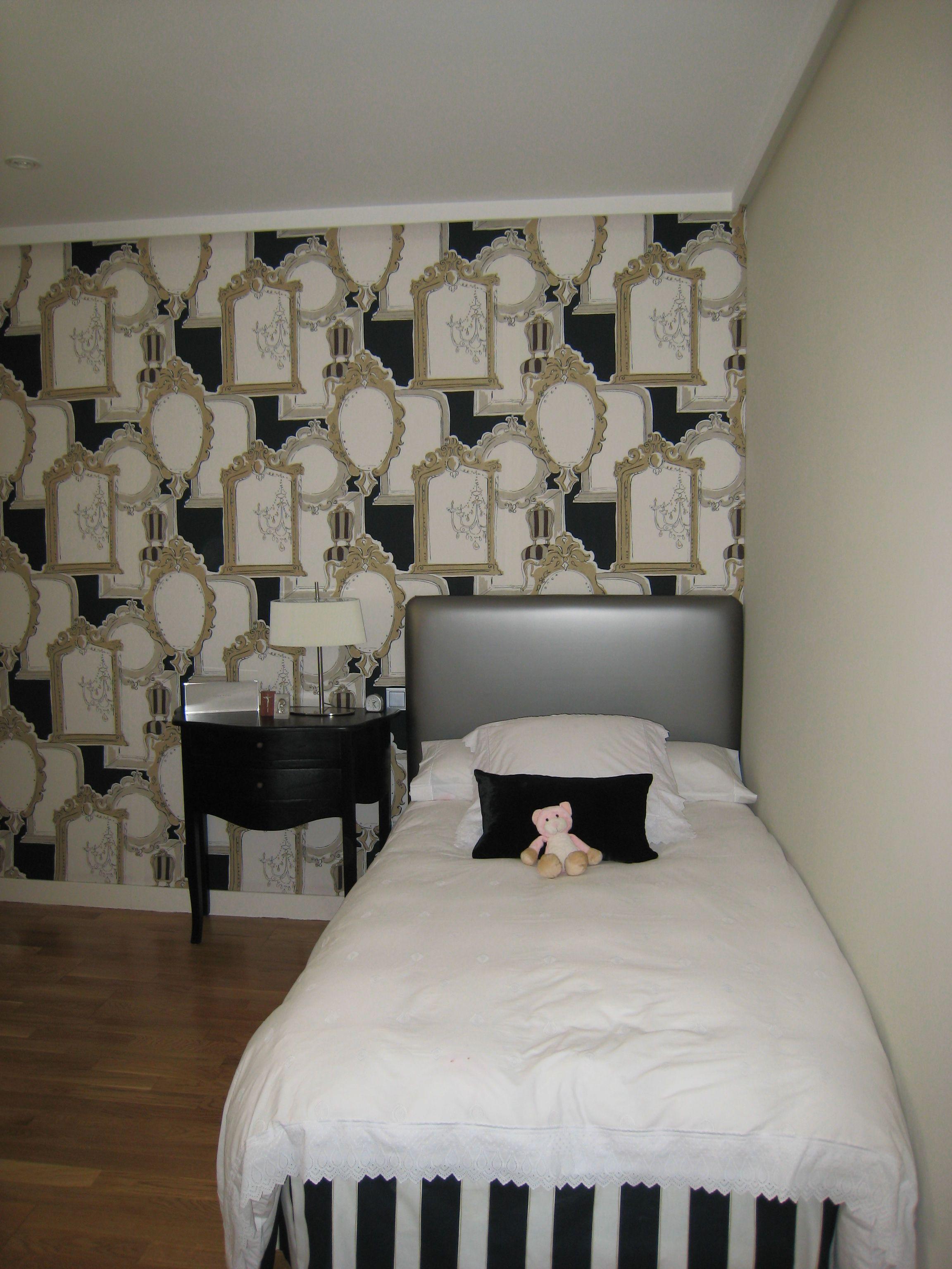 Dormitorios De Nia En Blanco Beautiful With Dormitorio Bebe Nia  ~ Papel Pintado Para Habitacion Juvenil De Niña