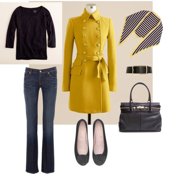 """""""Black and yellow"""" by mamafolie on Polyvore"""