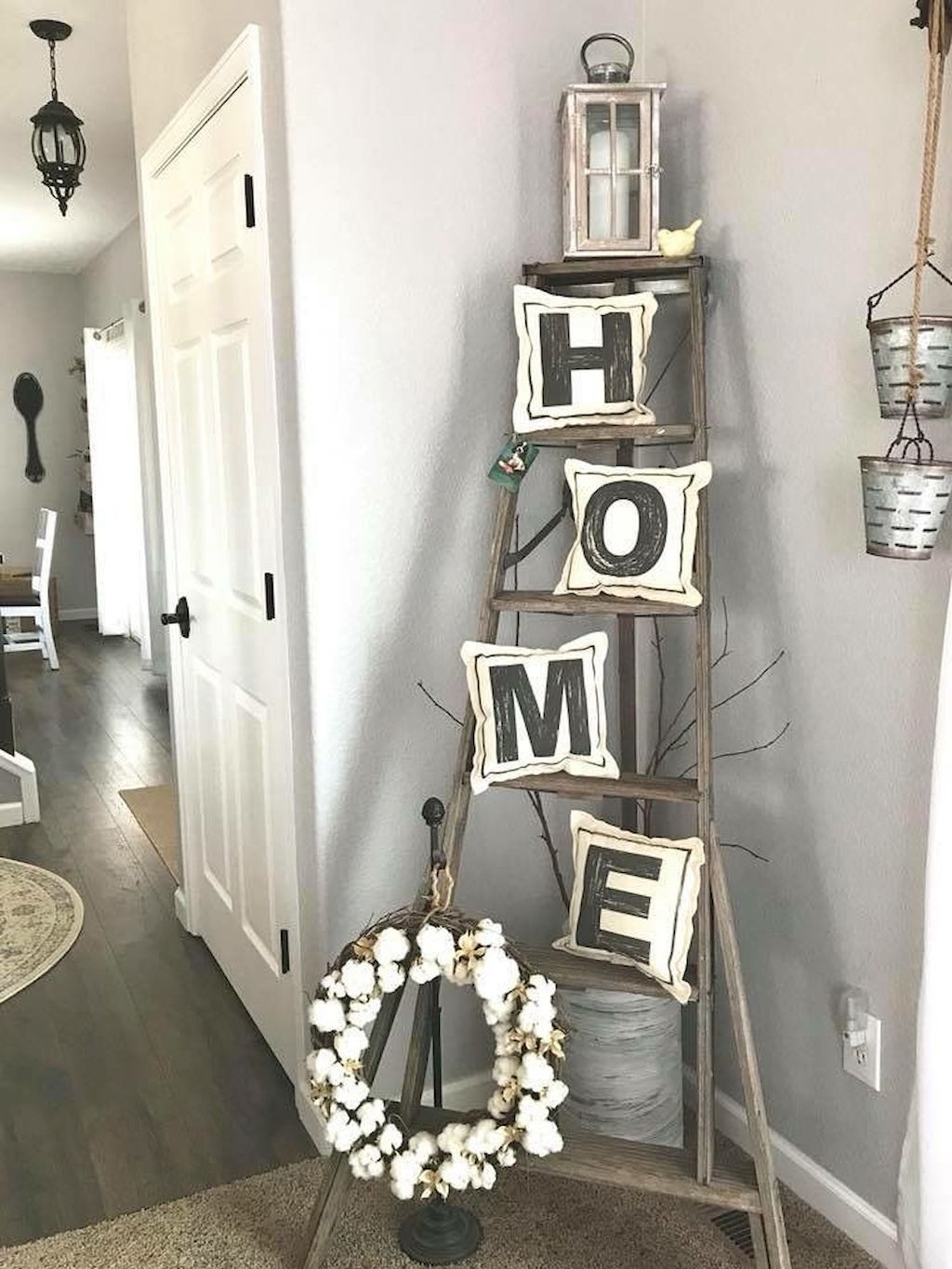 Excellent Christmas Craft Ideas For Your Living Room Home To Z Rustic Farmhouse Living Room Farm House Living Room Farmhouse Decor Living Room