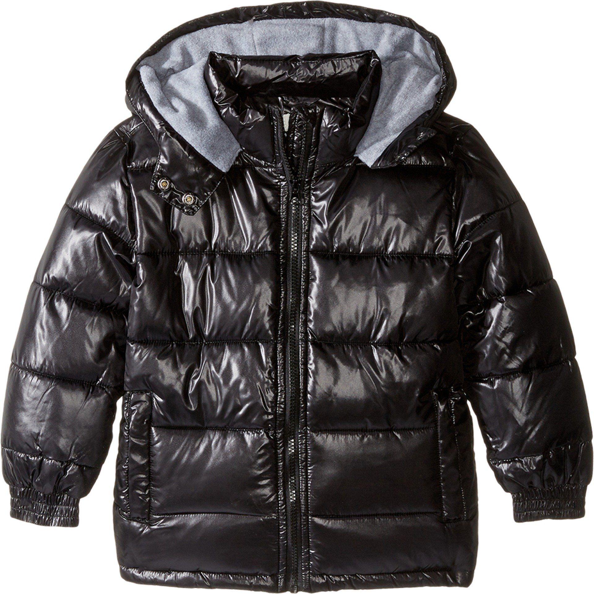 7f4a82388092 Pumpkin Patch Kids Baby Boy s High Shine Black Puffer Jacket (Infant ...