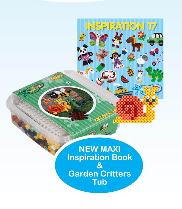 Think your toddler's too little for #HamaBeads? Nope! Maxi Beads are especially for pre-schoolers and here's what's new! www.hamabeads.com/new-for-2018 #toddler #preschool #children #twoyearold #threeyearold #fouryearold #MaxiBeads #childrenstoys #learning #gardencreatures #bugs