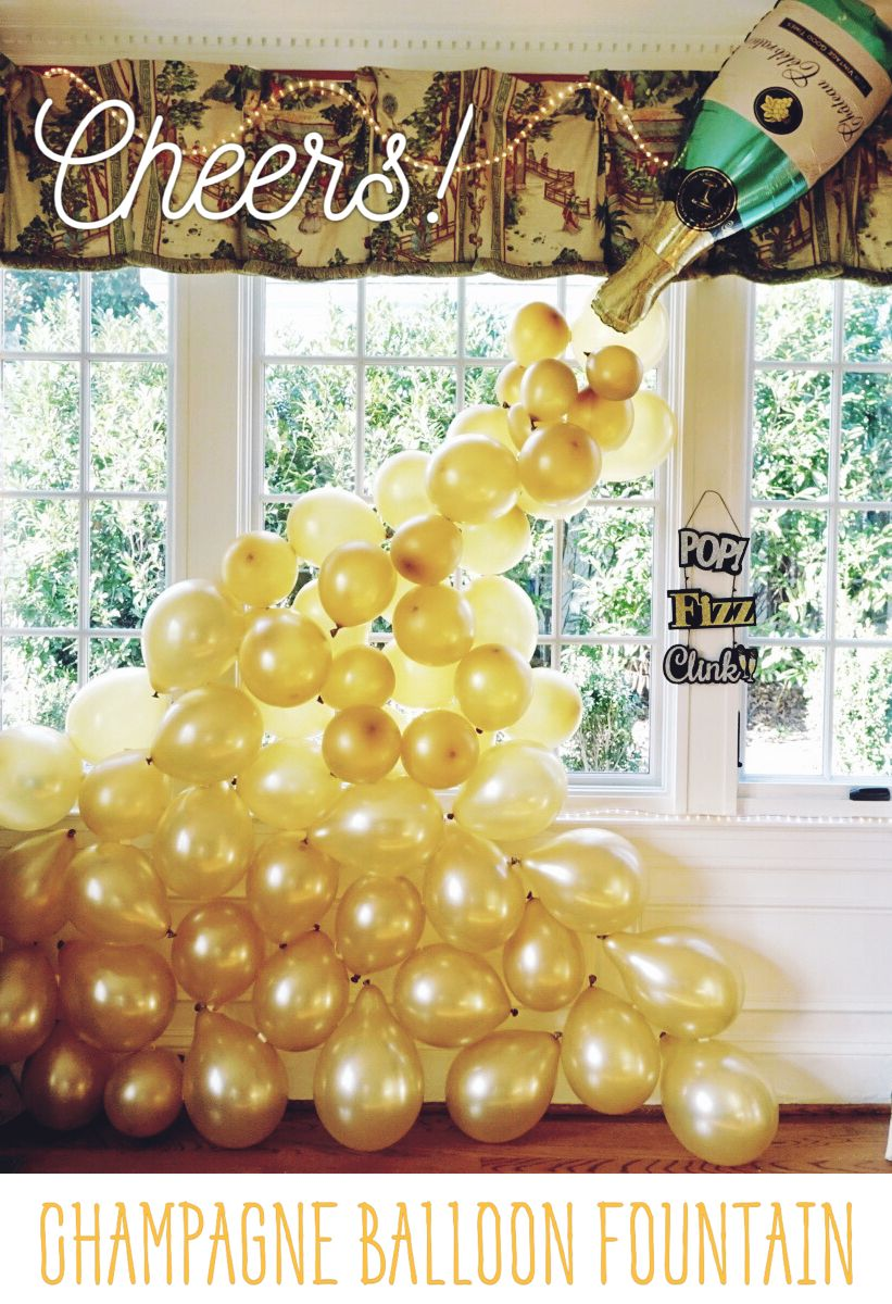 Our Champagne Balloon Fountain was a hit at our New Year's