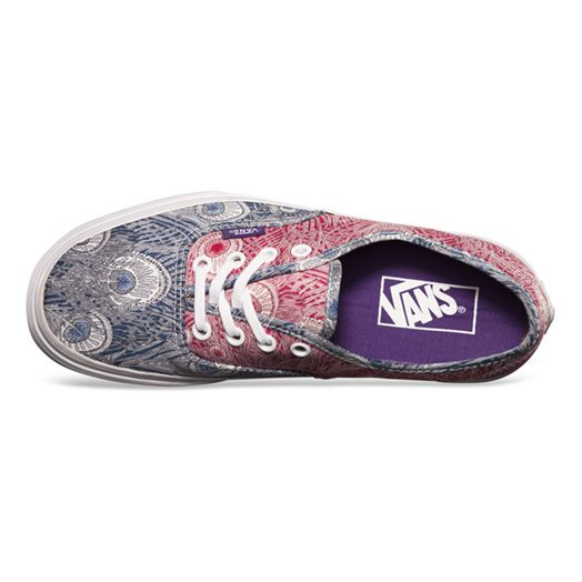 a326476366 Vans   Show your feathers with the new Liberty Authentic in Peacock True  White.