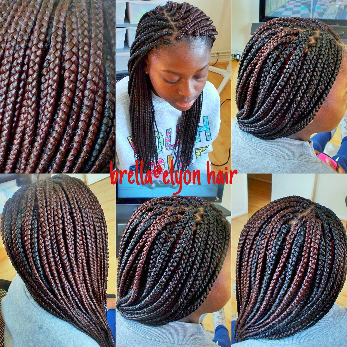Box Braids Done With Color 33 And 1b Hair In 2018 Pinterest