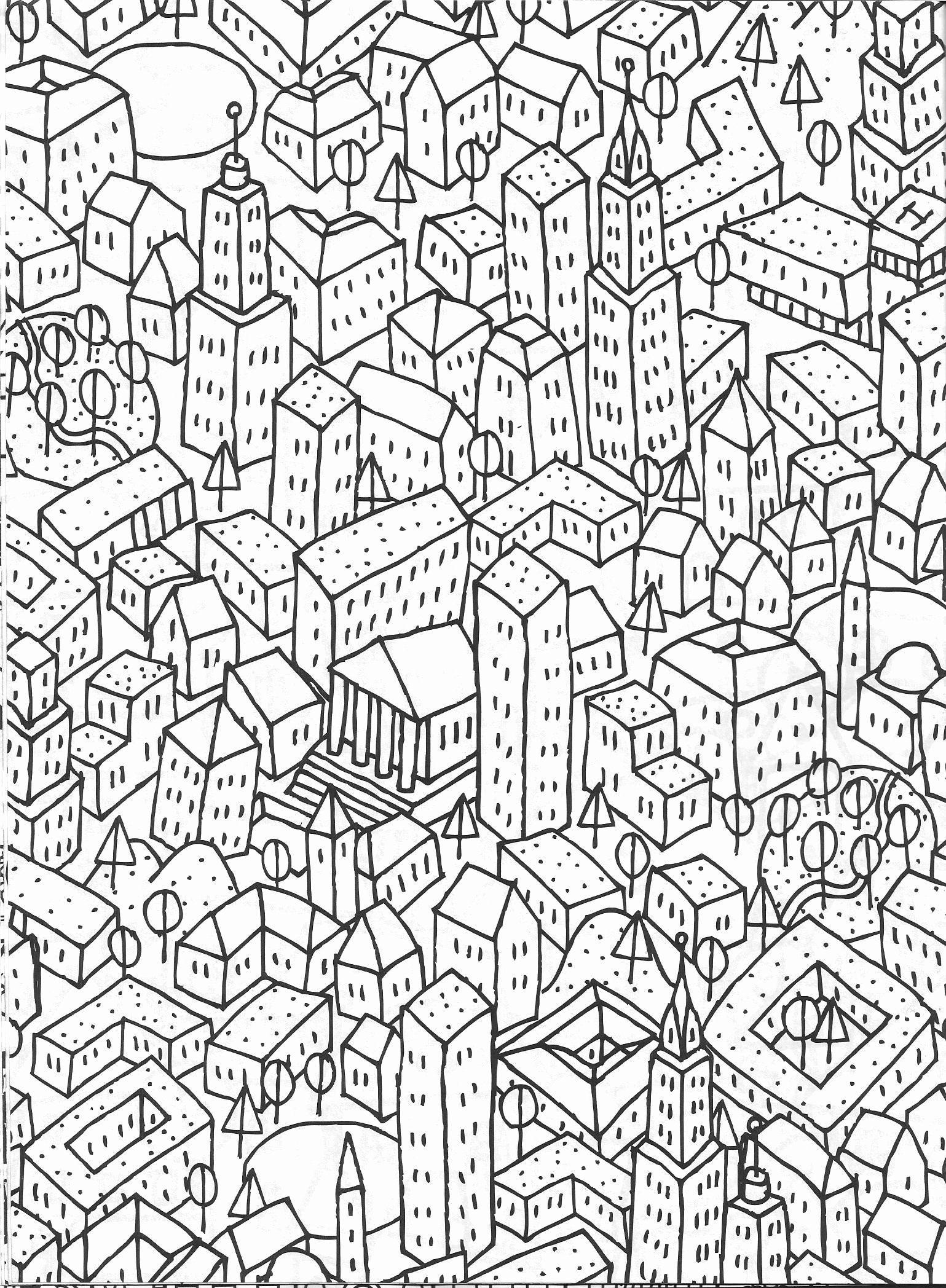 stadtskylinemalvorlagen elegantes stadtbildmalvorlage