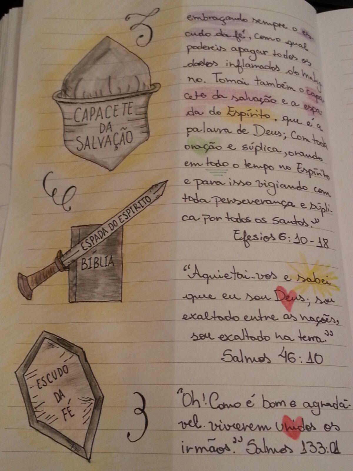 Versiculos Que Marcaram Minha Vida Caderno Para Estudo Biblico