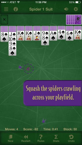 The classic Spider Solitaire game loved by millions has been