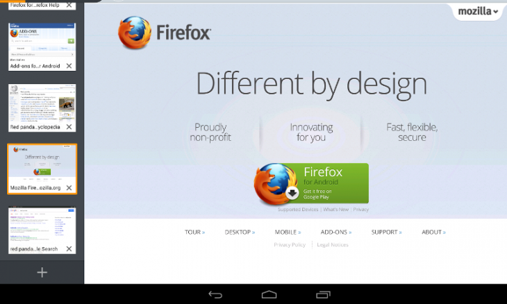 Firefox Beta for Android Has Guest Browsing Mode Android
