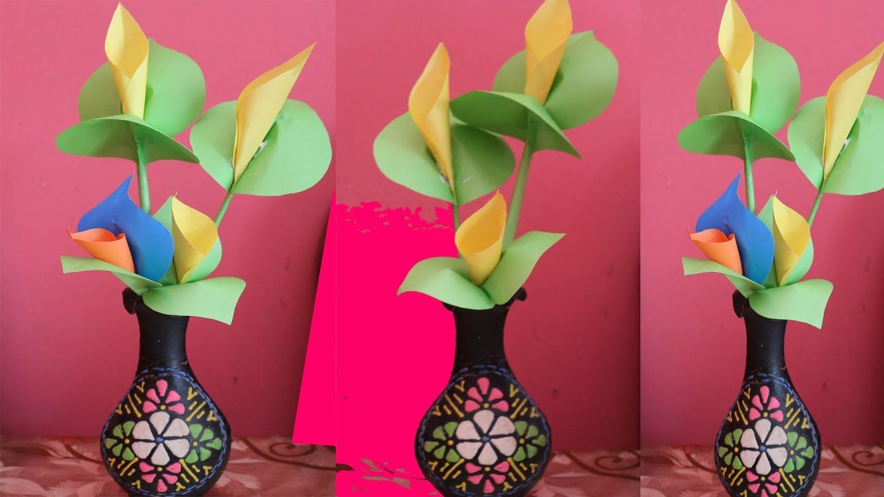 How To Make Calla Lily Paper Flower Easy Origami Flowers For