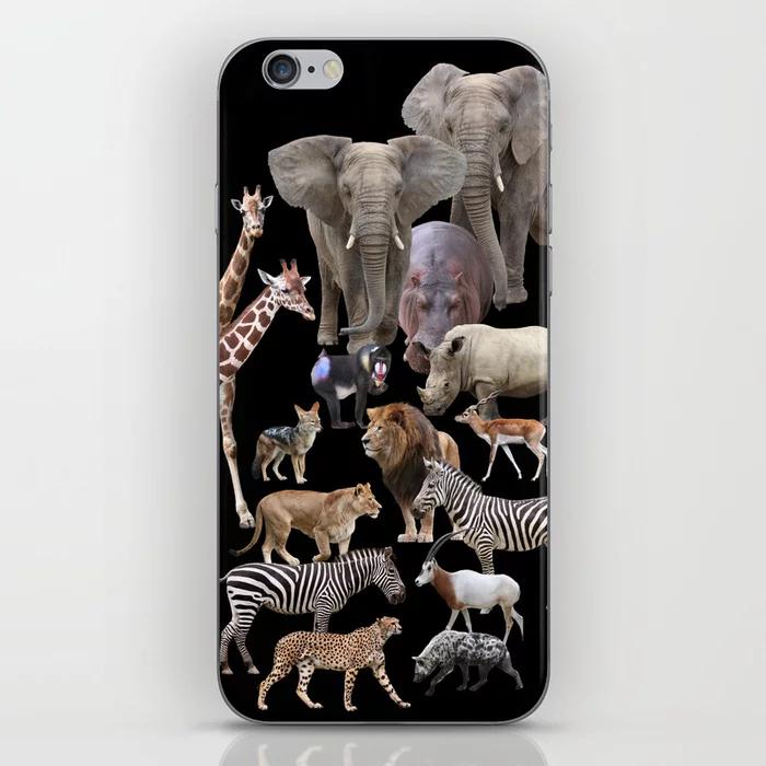 Photo of African Animals_Black Hintergrund iPhone Skin von dohshin –  African Animals_Bla…