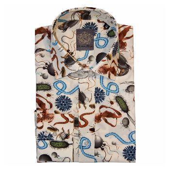 Gresham Blake Blue Insects Shirt - Trouva
