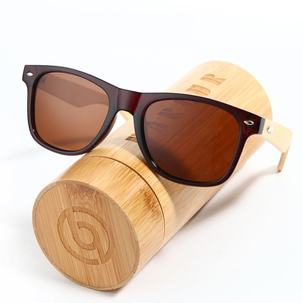 9fc7b21233 BARCUR 2017 HD Real Polarized Wood Bamboo Sunglasses Retro Women ...