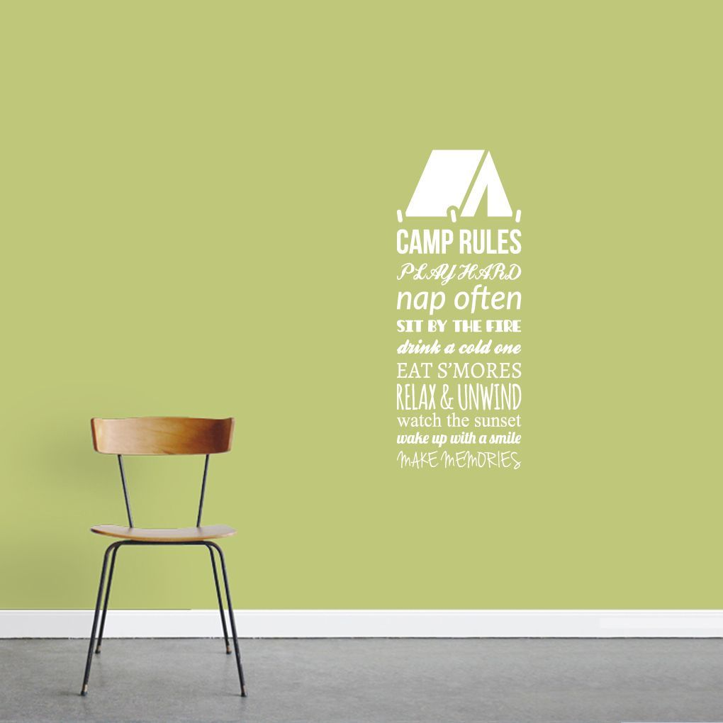Sweetums Camp Rules Wall Decal - 14 x 36 Inches | Products ...
