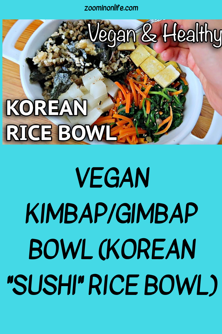 Vegan Kimbapgimbap Bowl Korean Sushi Rice Bowl Plant