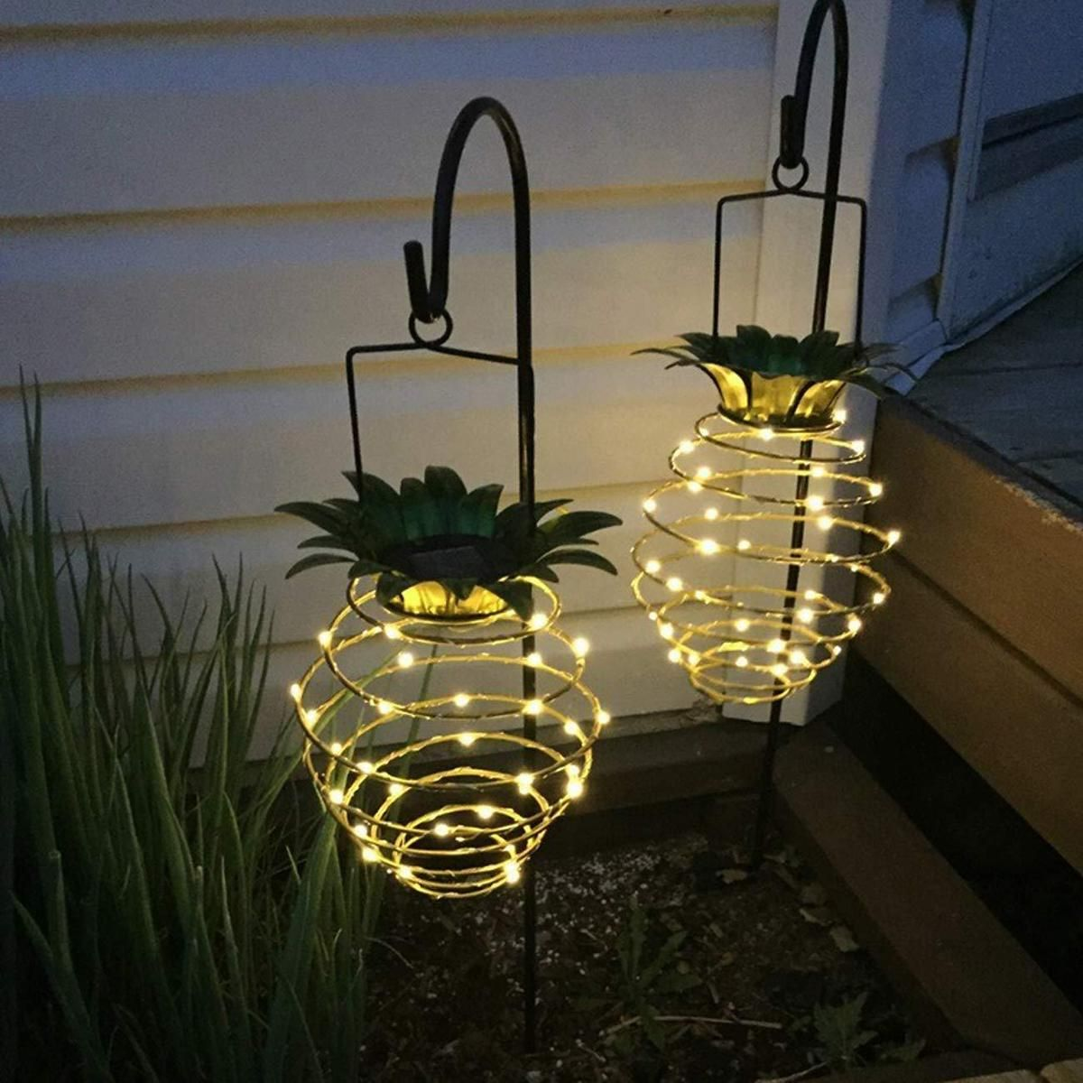 Solar Pineapple Lantern Solar Lights Garden Pineapple Lights Hanging Solar Lights