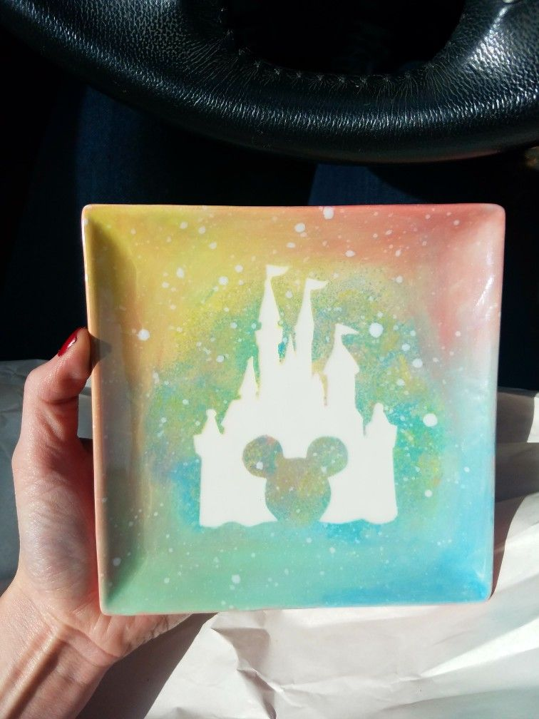 Disney Dish Pottery Painting Designs Color Me Mine Paint Your Own Pottery