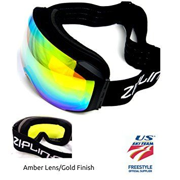 f5f08abc8b2 Zipline Podium Ski   Snowboard   Snowmobile Goggles – No Fog –  Interchangeable Magnetic Lenses –