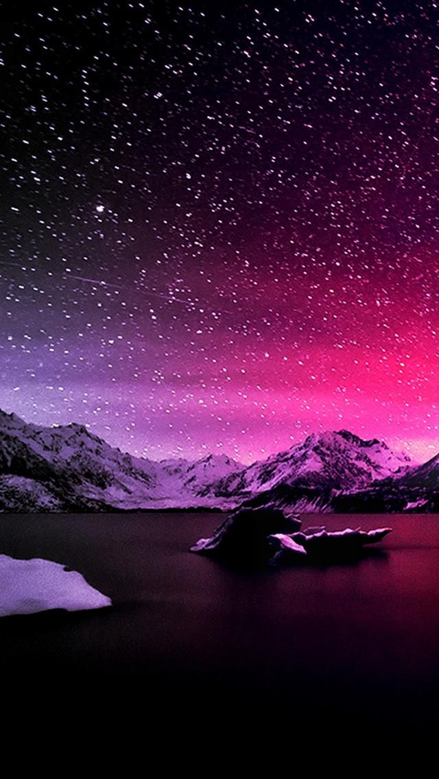 Winter Night Backgrounds Wallpaper Iphone Wallpaper Night Sky