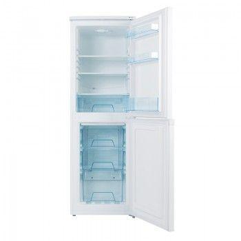Lec Tf50152w 50cm Frost Free Fridge Freezer With Images Fridge Freezers Freezer Fridge