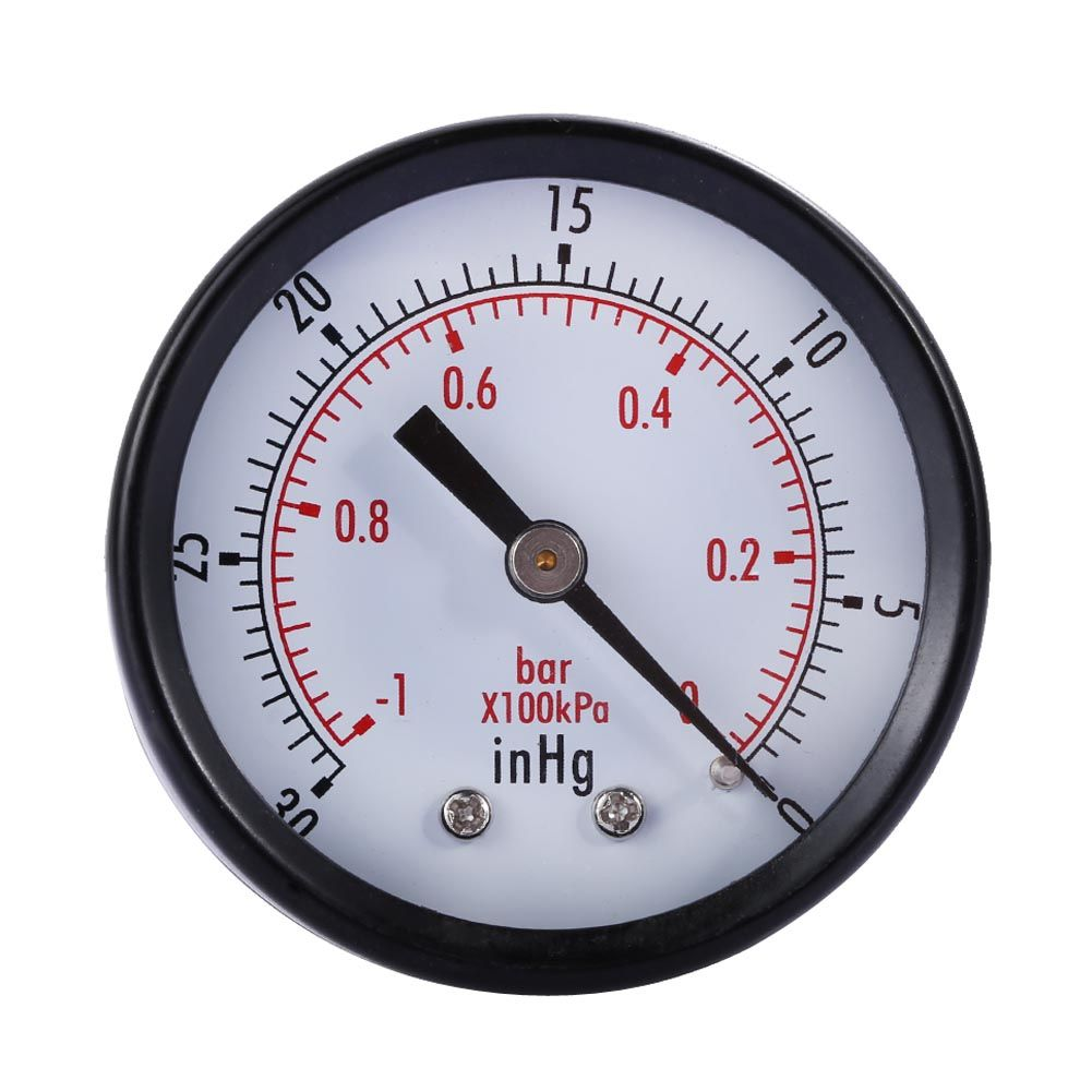 112 Dry Utility Mini Vacuum Pressure Gauge Blksteel 18 Center Back 30hg0psi Pressure Tester Special Offe Pressure Gauge Air Pressure Gauge Water Pressure Gauge