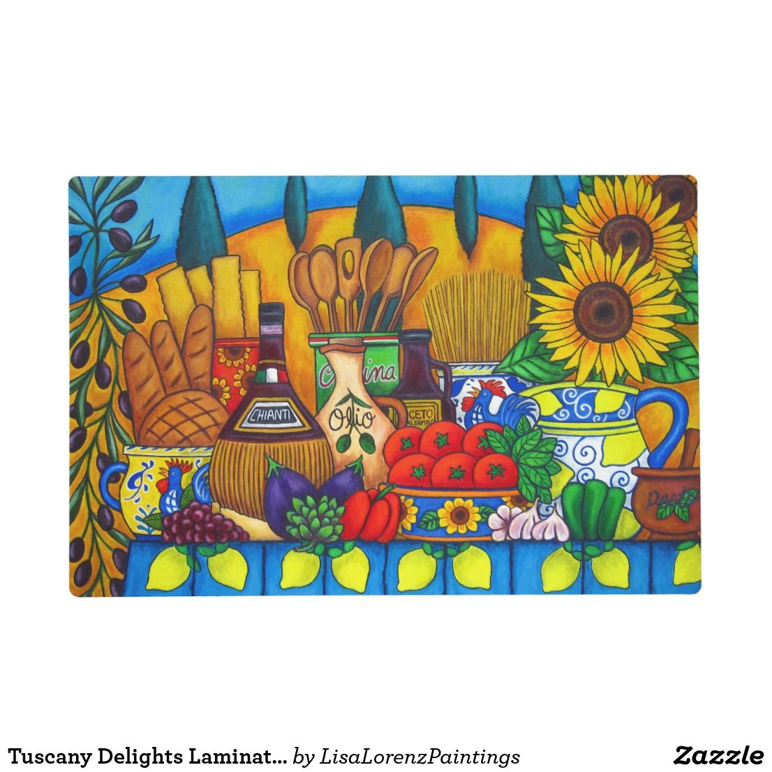 Tuscany Delights Laminated Placemat Placemat