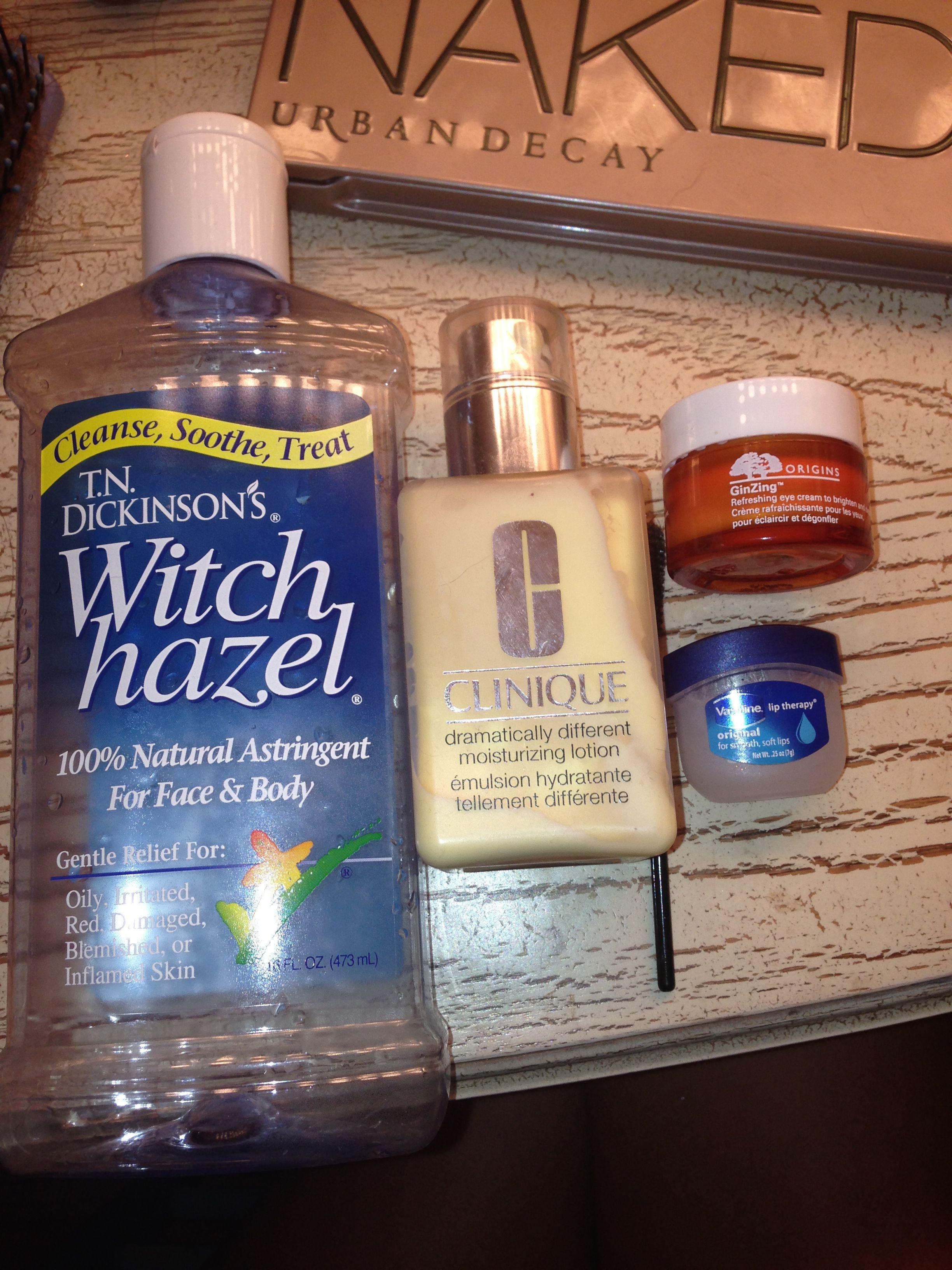 My Night Time Routine 1 I Apply Witch Hazel As My Astringent 2 I