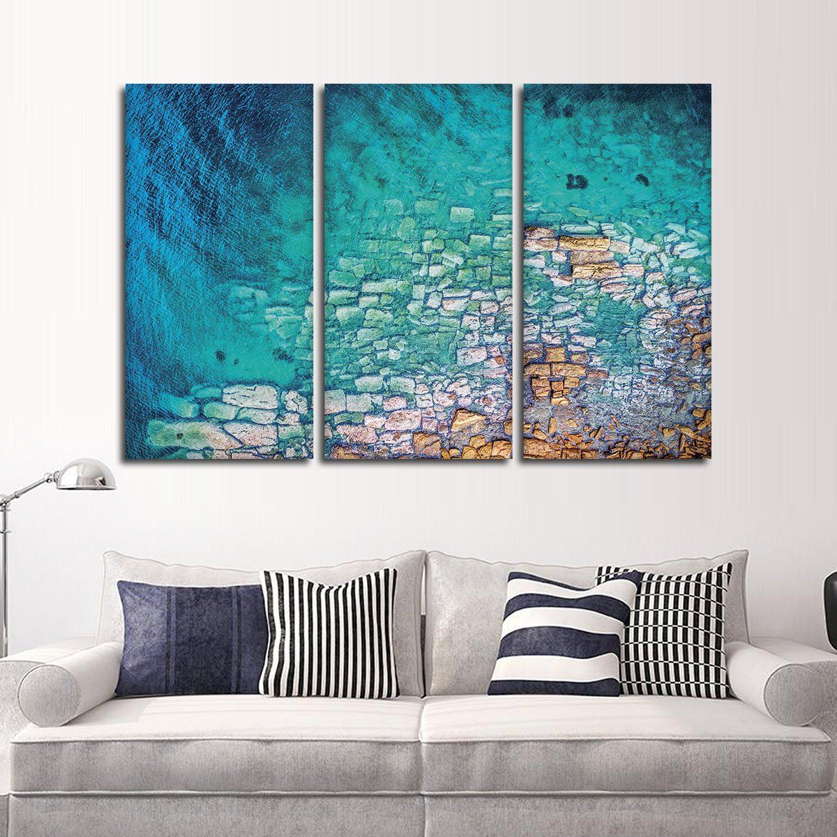 Aerial Ocean View Multi Panel Canvas Wall Art Wall Decor Painting Canvas Canvas Wall Art Islamic Wall Art