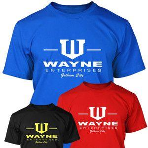 Wayne Enterprises T shirt Batman Dark Knight Bruce Wayne Superhero Gotham New