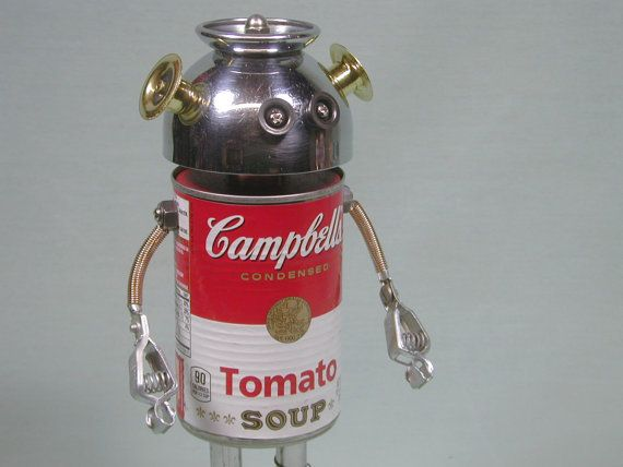 CAMPY  Found Object  Robot Sculpture by NutzenBoltsWorks on Etsy, $89.00
