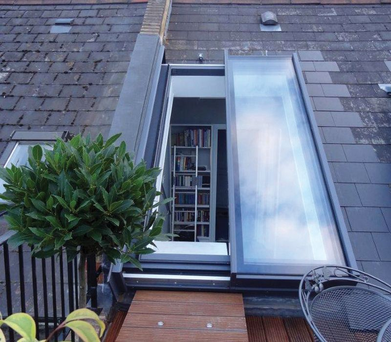 Bespoke Sliding Over Fixed Rooflight For Sloped Roofs London Roof Window Roof Light Patio Roof