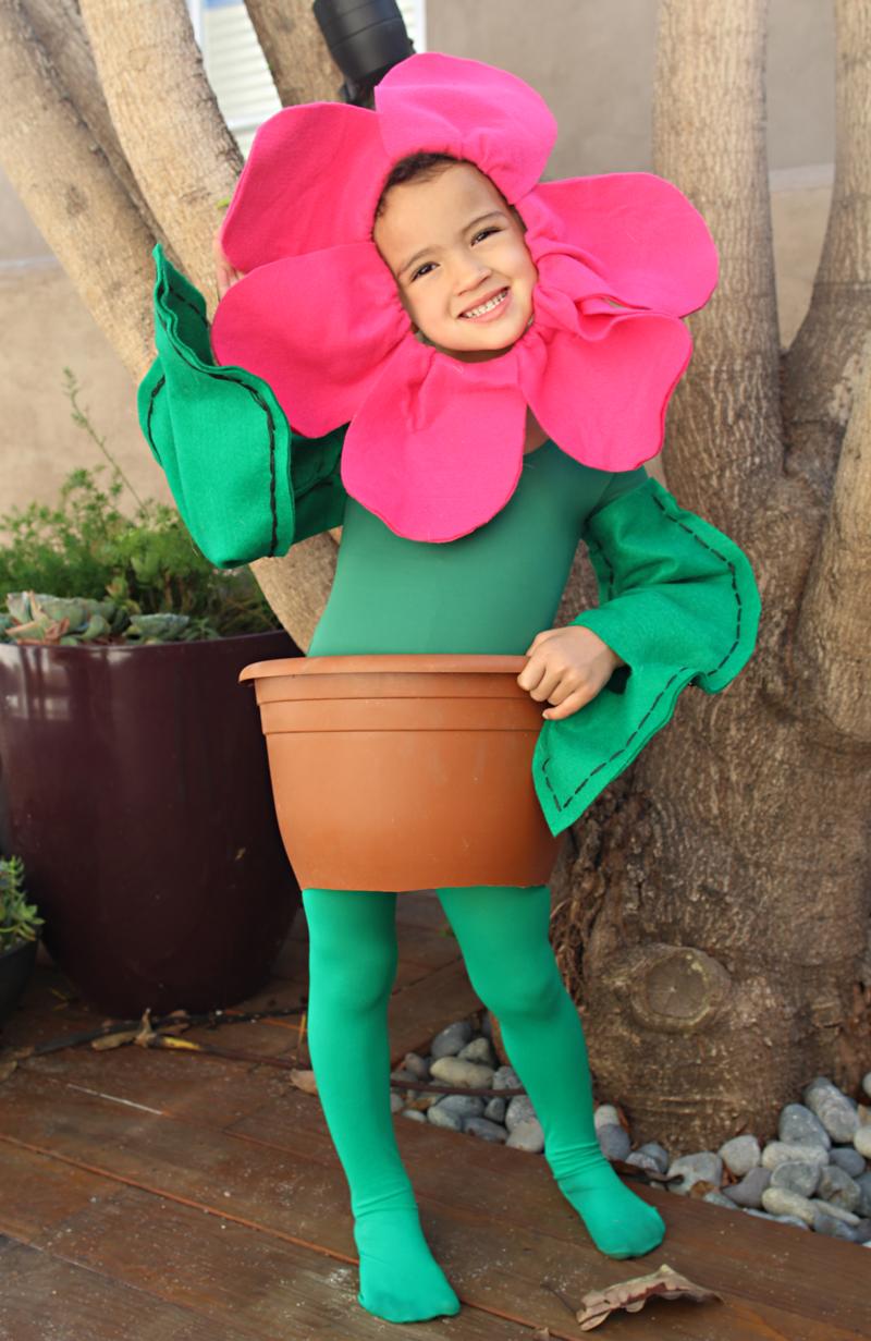 kinder karneval kostüme selber machen blume kostüm