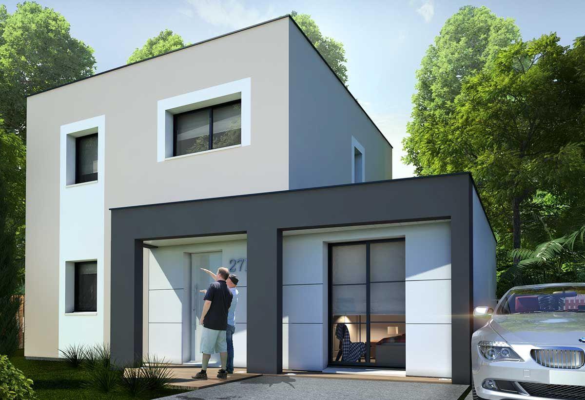 Rendu 1 de la maison individuelle habitat concept 27b