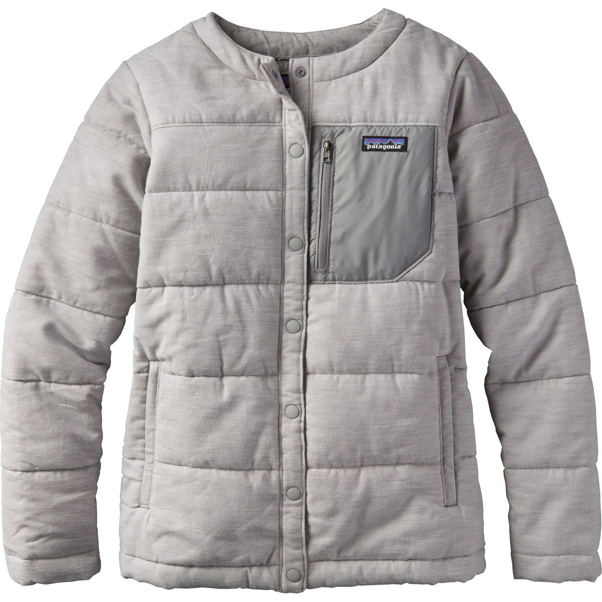 Campfire ready, the new Patagonia Women's Insulated Heywood Jacket is an insulated  flannel shirt jacket with clean lines and a simple snap closure.