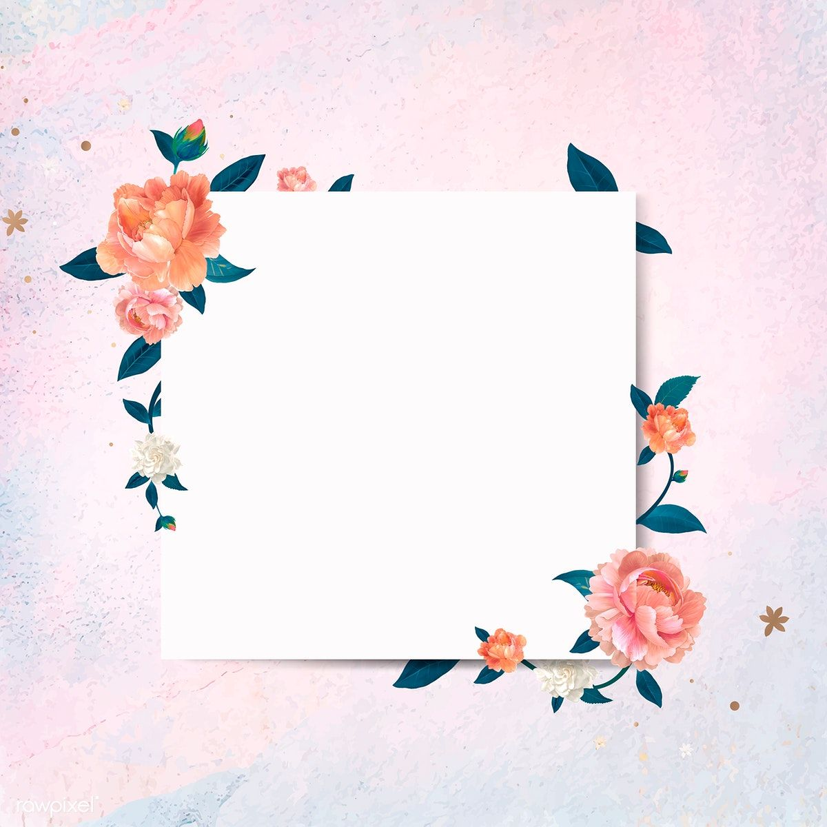 Download Premium Vector Of Blank Square Floral Frame Template