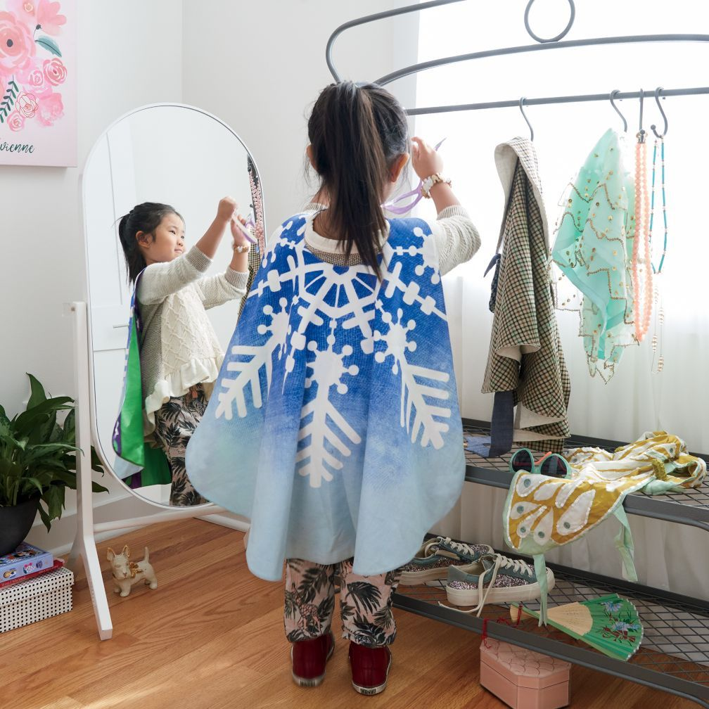 dress up for success wardrobe rack the land of nod preschool play dress up wardrobe. Black Bedroom Furniture Sets. Home Design Ideas