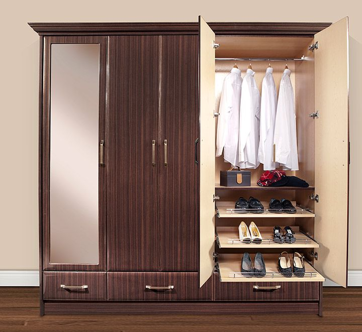 A Custom Fitted Armoire Wardrobe Closet Provides Excellent Storage