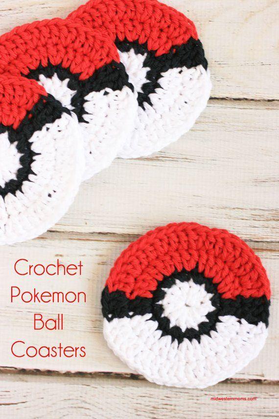 Crochet Coasters Pokemon Go Pokeball Crochet Pattern Crochet