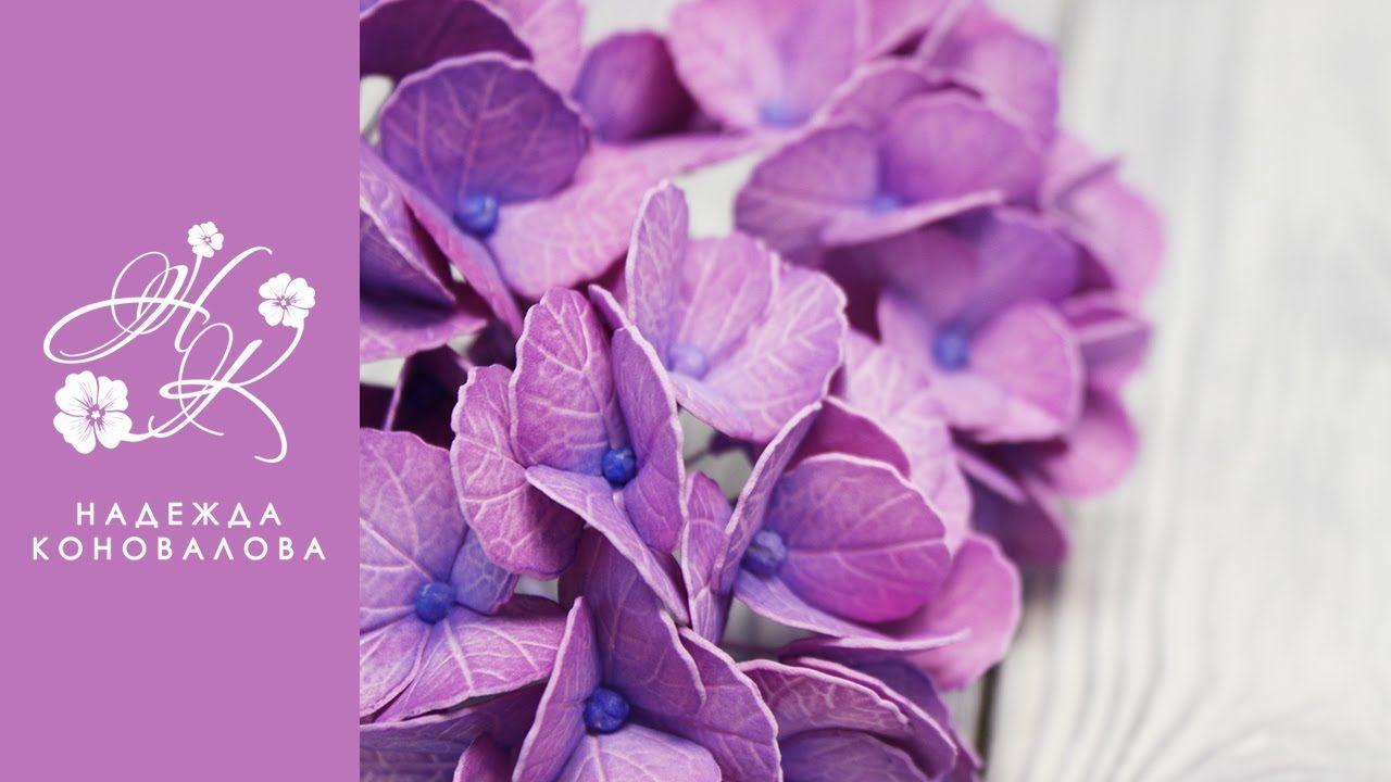 Гортензия из фоамирана мастер-класс   Бумажный цветок ...