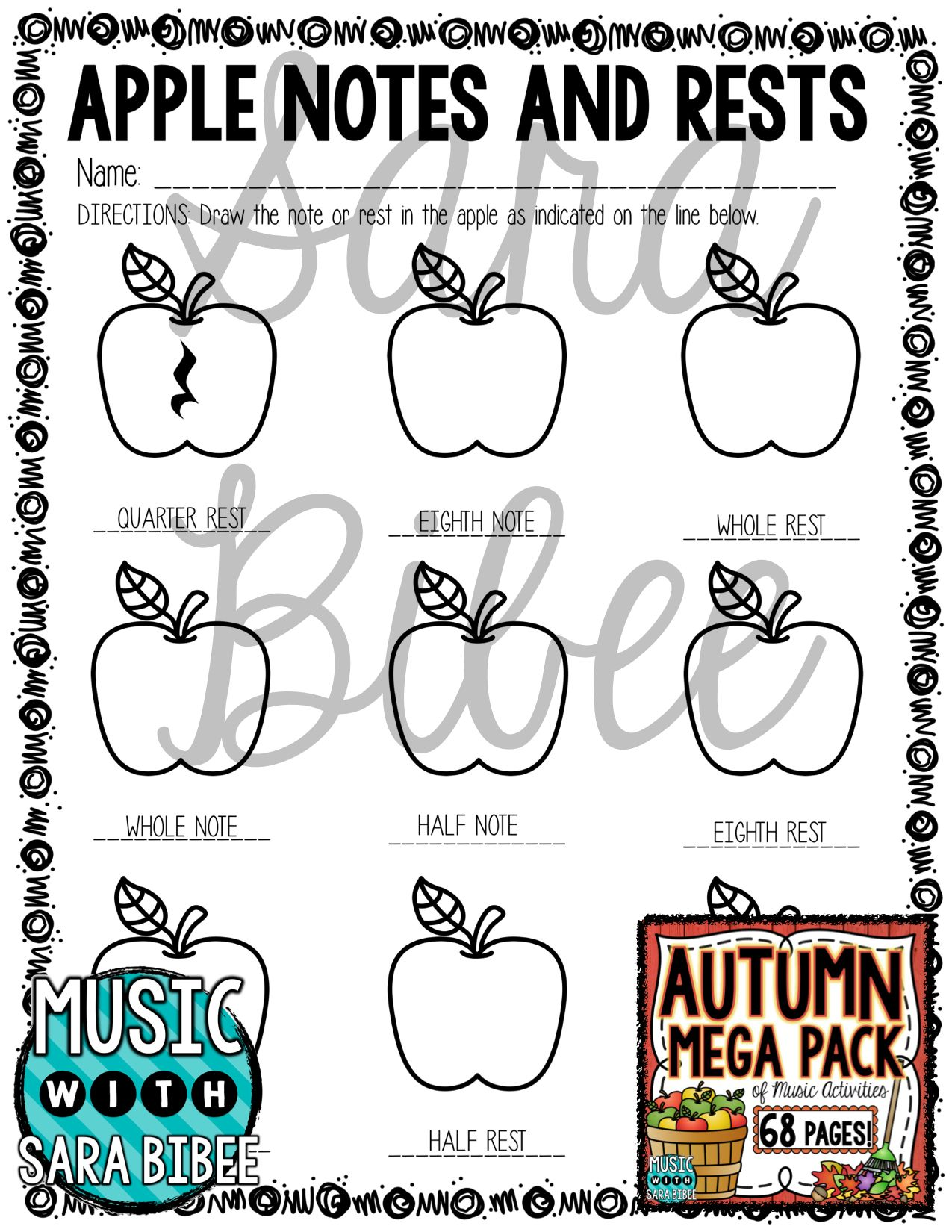 Autumn And Fall Mega Pack Of Music Worksheets