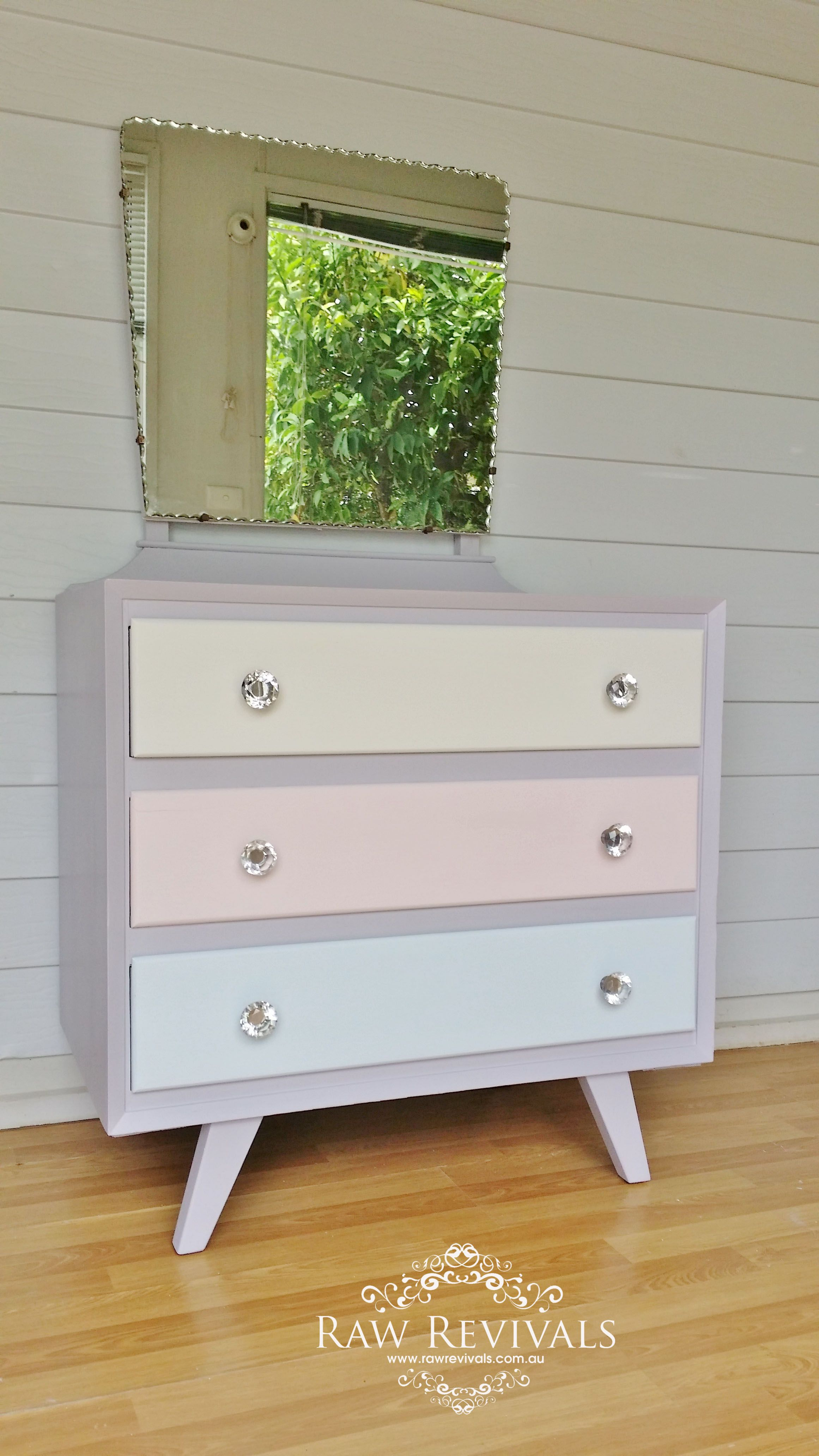 Furniture Diy Upcycled Pastel Retro Dressing Table Vanity