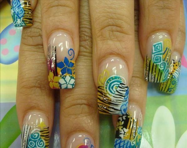 Image Detail For Nail Art Airbrush Fantasy Flowers Nail Art