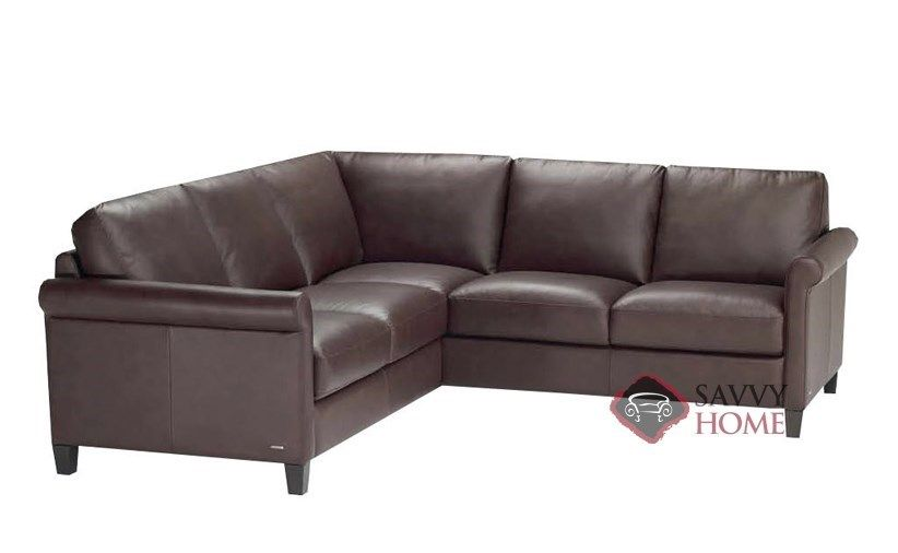 Parma Compact True Sectional Leather Sofa By Natuzzi Editions At Savvy Home 2 549 00