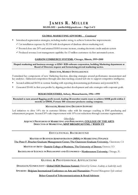 Best Marketing Executive Resume Learn even more about video - executive marketing director resume