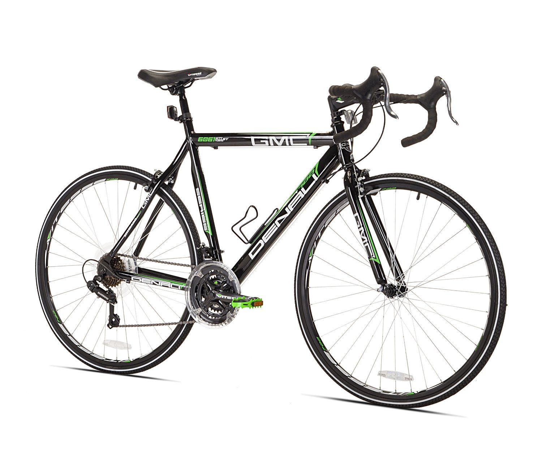 Amazon Com Gmc Denali Road Bike 700c Black Green Large 63 5cm Frame Road Bicycles Http Amzn To 2tevl9c Flat Bar Road Bike Bike Reviews City Bike